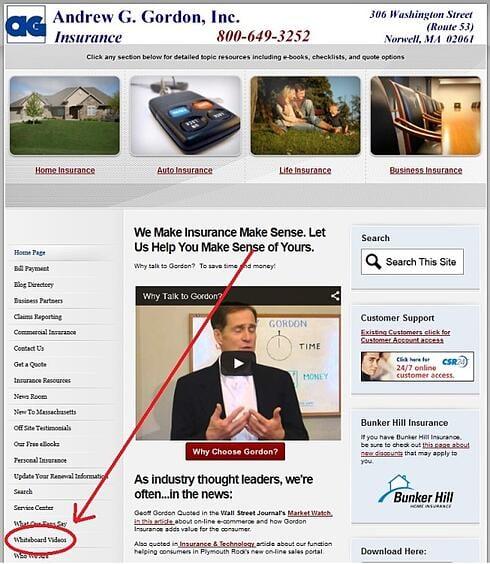 Watch Andrew G Gordon Inc Insurance whiteboard vids
