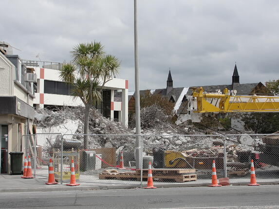 Christchurch earthquake devastation