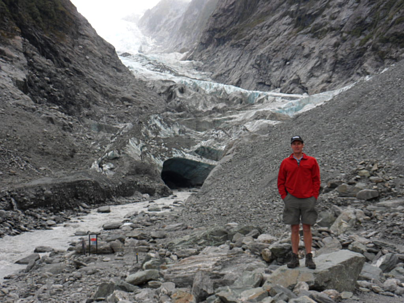 Franz Josef Glacier with river