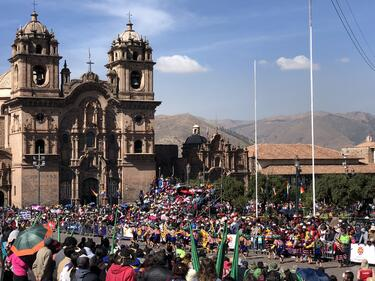 Cusco Pentecost festival church